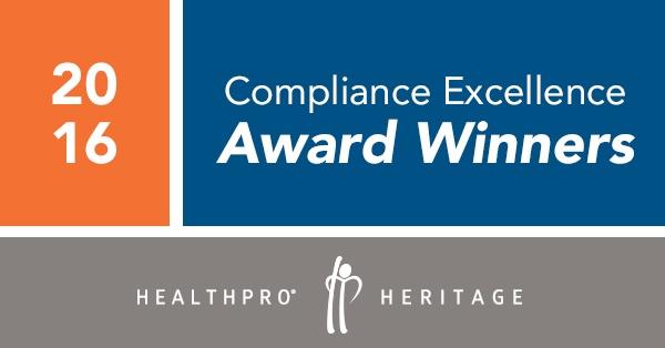 2016 Compliance Excellence Avhievement Award Winners
