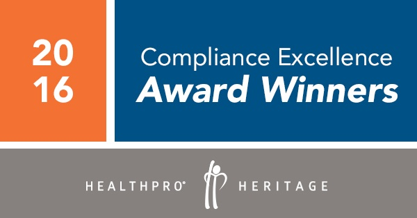 2016 Compliance Excellence Avhievement Award Winners
