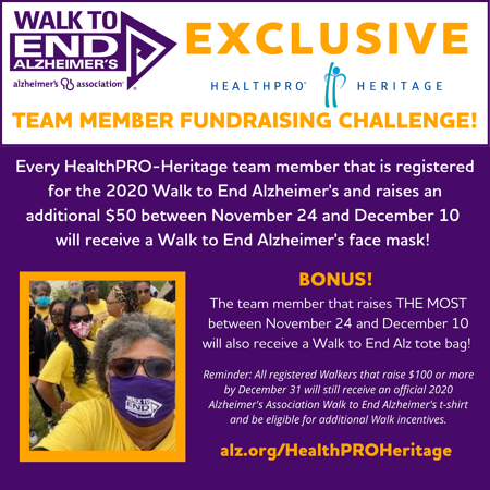 HealthPRO Heritage Exclusive Challenge for Walk to End Alzheimer's