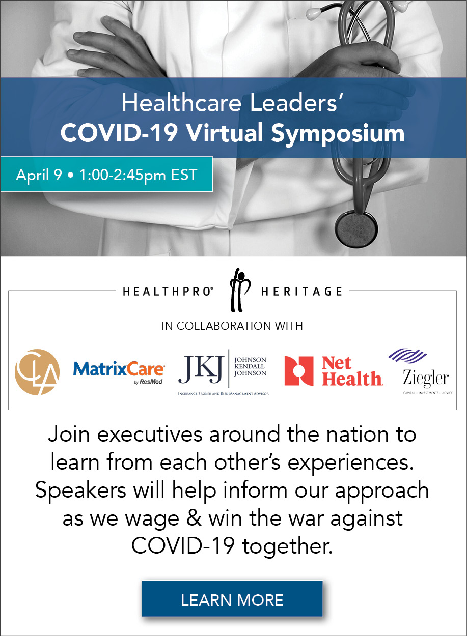 Healthcare Leaders - You're Invited to our COVID-19 Virtual Symposium