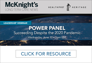 McKnights Power Panel - Succeeding Despite the 2020 Pandemic