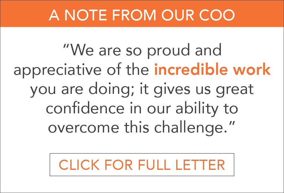 Note from Our COO