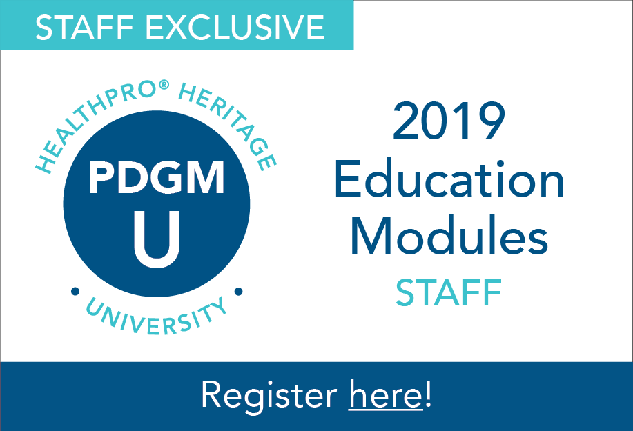 PDGM University: Staff Education