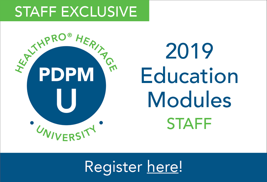 PDPM University: Staff Education