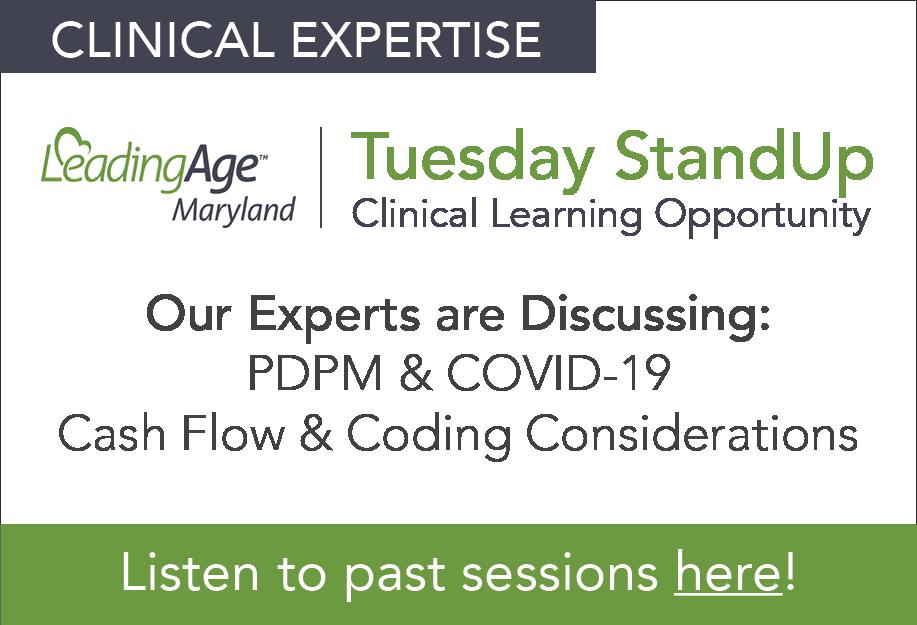 Tuesday StandUp - LeadingAge Maryland + HealthPRO Heritage